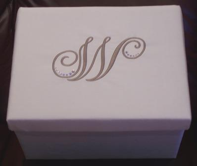 monogram gift card box