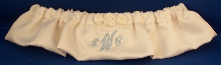 Satin Ribbon Rose Bridal garter