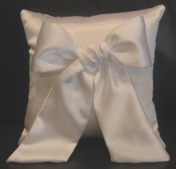 satin bow ring pillow