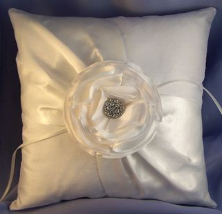 flower ring bearer pillow