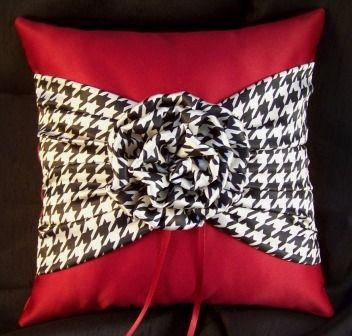 houndstooth ring bearer pillow