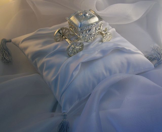 cinderella coach ring bearer pillow
