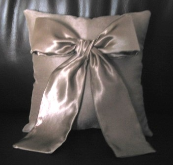 satin bow ring pillows